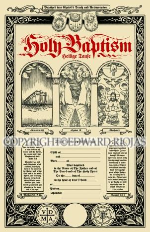 BAPTISMAL CERTIFICATE copyright