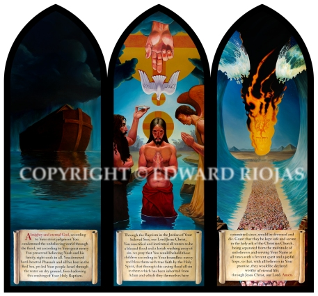 BAPTISMAL TRIPTYCH copyright