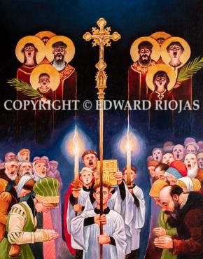DEAR CHRISTIANS PROCESSION VERTICAL copyright
