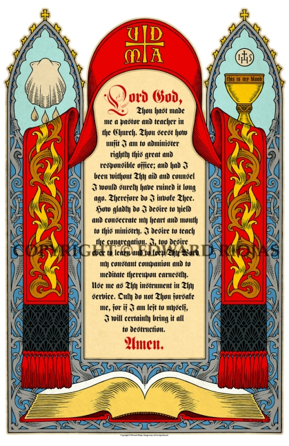 SACRISTY PRAYER NEW copyright